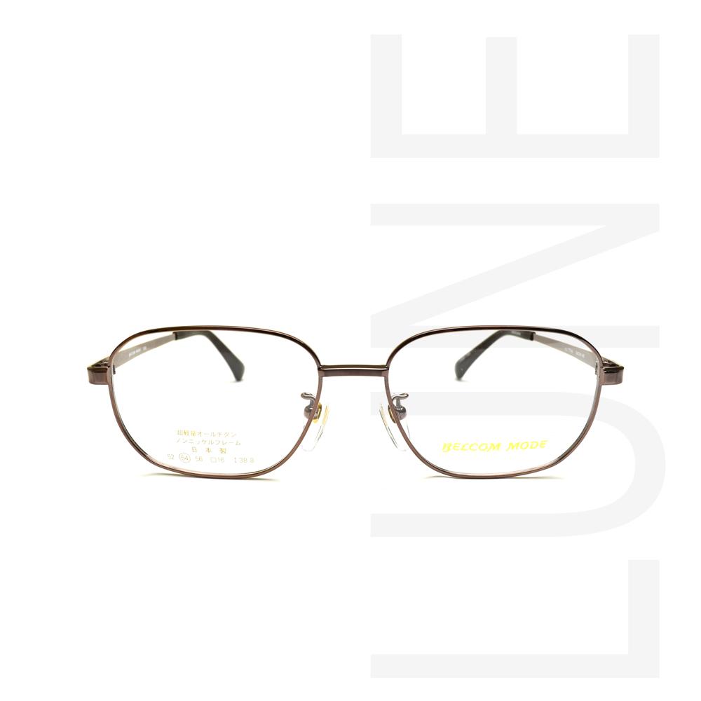 送料無料 メガネ BM003 COL BR 紳士フレーム メガネ度付き 伊達メガネ 度なしめがね 眼鏡 ブルーライトカット 軽い 家用メガネ 布ケース