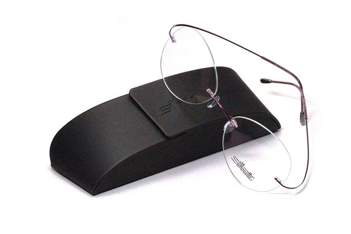 薄型レンズ付メガネセット 2019 NewバージョンSilhouette MinimalArt TMA 5515/CS-3542(マロウシャドウ)【リムレス】【世界一軽い】【メンテナンスフリー】