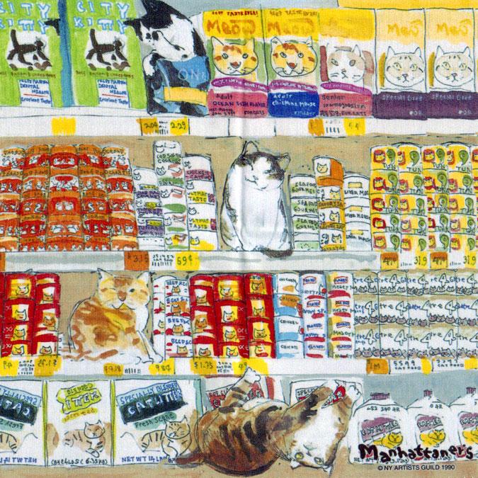 メガネ拭きとしての品質を追求し 最高級のクロスを使用 マンハッタナーズ メガネ拭き MX300MAN MAN 日本製 10 本物 猫を主人公としたアート メーカー直送 ワイピングクロス