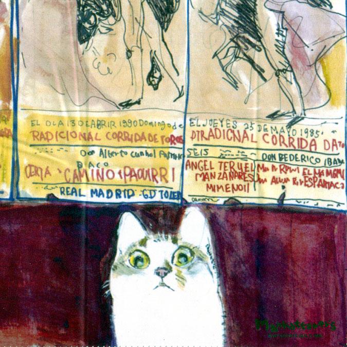 メガネ拭きとしての品質を追求し 最高級のクロスを使用 マンハッタナーズ メガネ拭き MX300MAN MAN ワイピングクロス 日本製 猫を主人公としたアート ギフ_包装 14 お買得