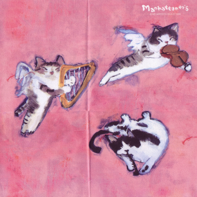 メガネ拭きとしての品質を追求し 最高級のクロスを使用 マンハッタナーズ メガネ拭き 超人気 毎週更新 MX300MAN 25 MAN 日本製 ワイピングクロス 猫を主人公としたアート