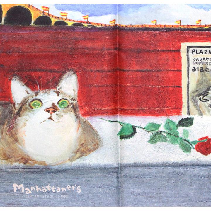 メガネ拭きとしての品質を追求し 最高級のクロスを使用 マンハッタナーズ メガネ拭き MX300MAN 猫を主人公としたアート ワイピングクロス MAN 送料無料カード決済可能 日本製 27 毎週更新