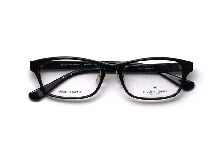 薄型レンズ付メガネセット ModernTimes MT 8023-1 ブラック【ユニセックス】【男女兼用】【アセテート】【日本製】