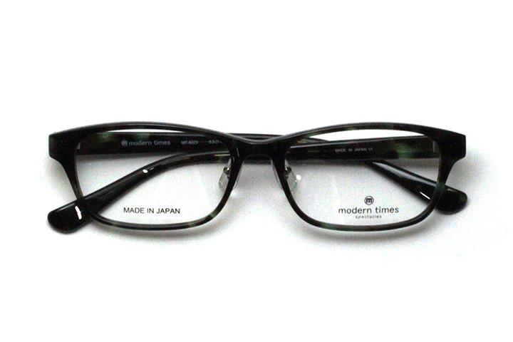 薄型レンズ付メガネセット ModernTimes MT 8023-3 グレーデミ【ユニセックス】【男女兼用】【アセテート】【日本製】