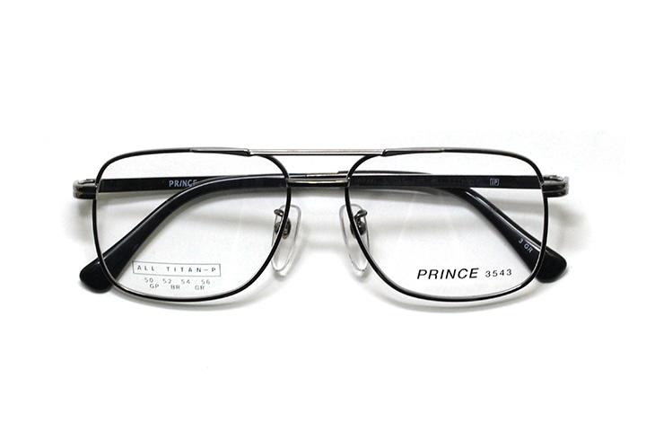 薄型レンズ付メガネセット オーソドックス紳士モデル ツーブリッジ プリンス 3543-GR(グレー) 54サイズ
