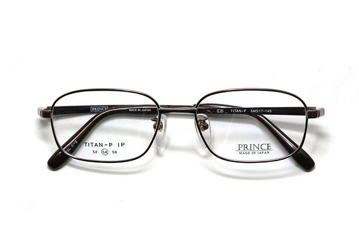 薄型レンズ付メガネセット オーソドックス紳士モデル ワンブリッジ プリンス 3608-BR(ブラウン) 56サイズ