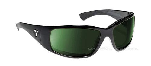 【7eye】サングラス SPF100シリーズ TAKU PLUSセブンアイ タクプラス マットブラックフレーム NXT偏光レンズ ミスティグリーン