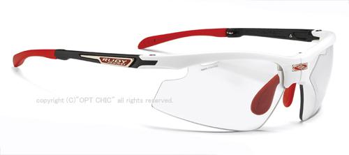 RUDY PROJECT SYNFORMルディプロジェクト スポーツサングラス シンフォーム ホワイトマットフレーム インパクトX2調光レーザーブラック