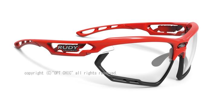 RUDY PROJECT FOTONYKルディプロジェクト レッドフレーム・調光インパクトX2ブラックレンズ