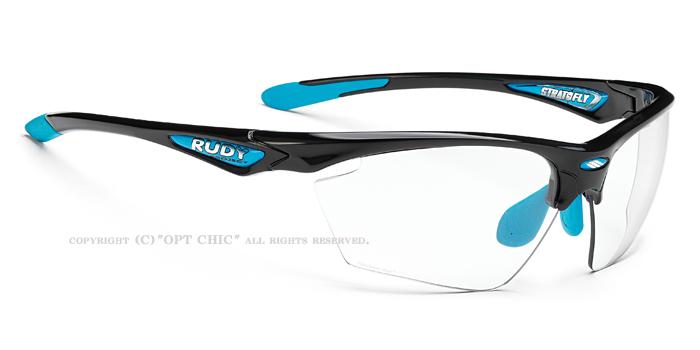 RUDY PROJECT STRATOFLYルディプロジェクト ストラトフライスポーツサングラス ブラッックグロス/ライトブルーフレーム調光フォトクリア