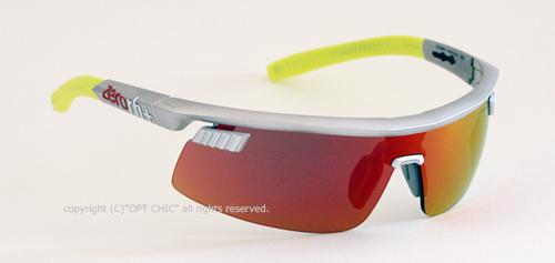 ZEROrh+ OLYMPO サングラス Rh841S 12マットシルバー/レッドミラー