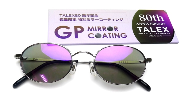 BLESS Eight-SUN-POLARIZED LIITED(偏光) Lens Color:TRUEVIEW(トゥルービュー) Lens Coating:GP MIRROR(限定ミラー)