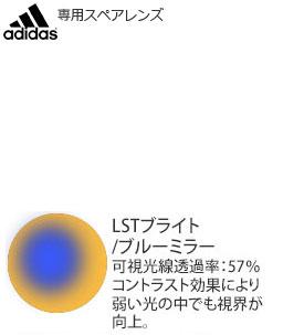 adidas ZONYK AERO PRO ad05L/ad05S 専用スペアレンズ LSTブライト/ブルーミラー