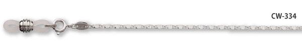 真鍮製ロジュームメッキメガネチェーン(シルバーカラー)