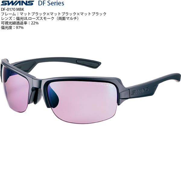 SWANSスポーツサングラスDF-0170MBK偏光レンズ