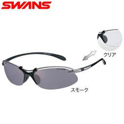 【送料無料】SWANS スポーツサングラス Airless-Wave 調光レンズ SA-518 MTSIL