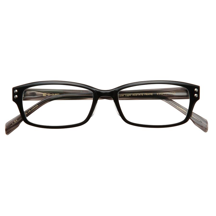 LUCERA Slim type スクエア LUC07-1312 ブラック【メガネフレームのみ】