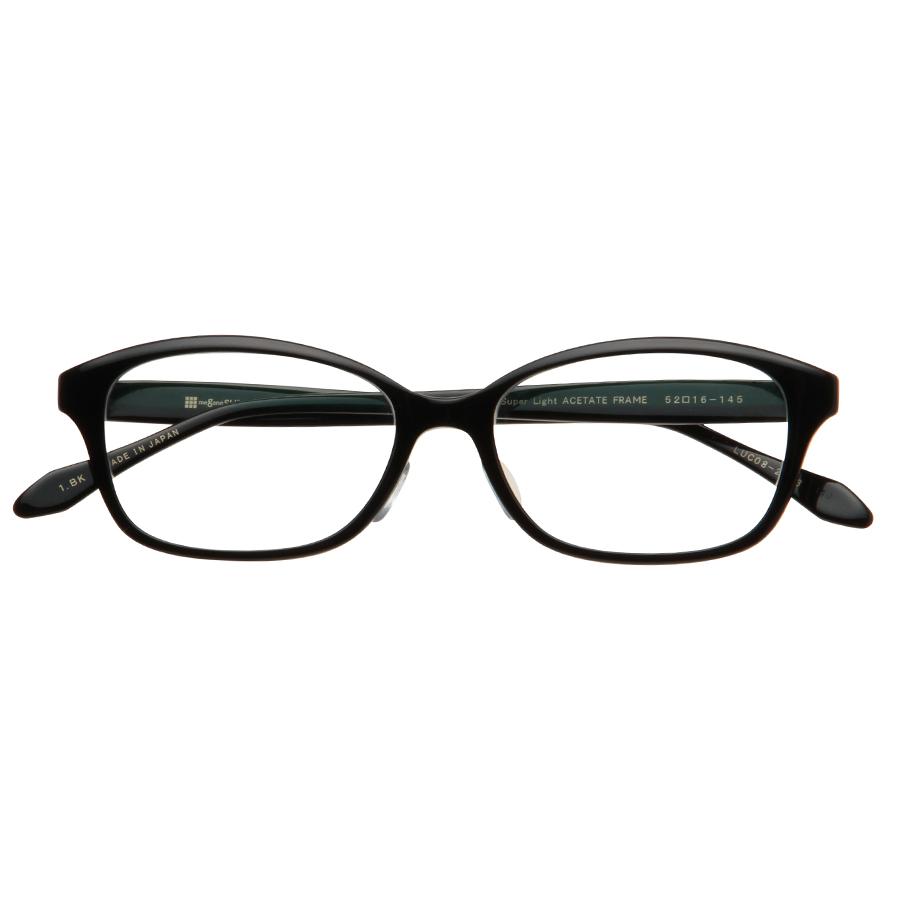LUCERA Slim type ウェリントン LUC08-2313 ブラック【メガネフレームのみ】
