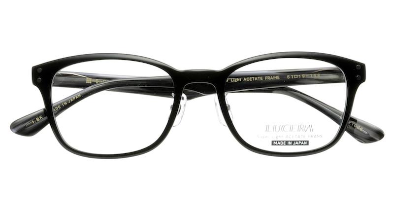 【VERYコラボ同型】LUCERAウェリントンモデル LUC-1006 ブラック【メガネフレームのみ】