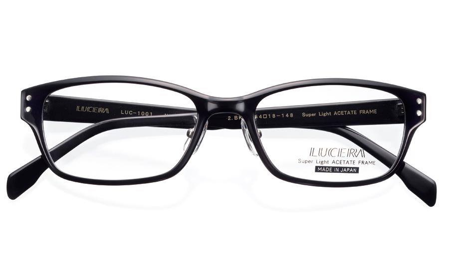 【VERY掲載】メガネ LUCERAウェリントンモデル LUC-1001 ブラック