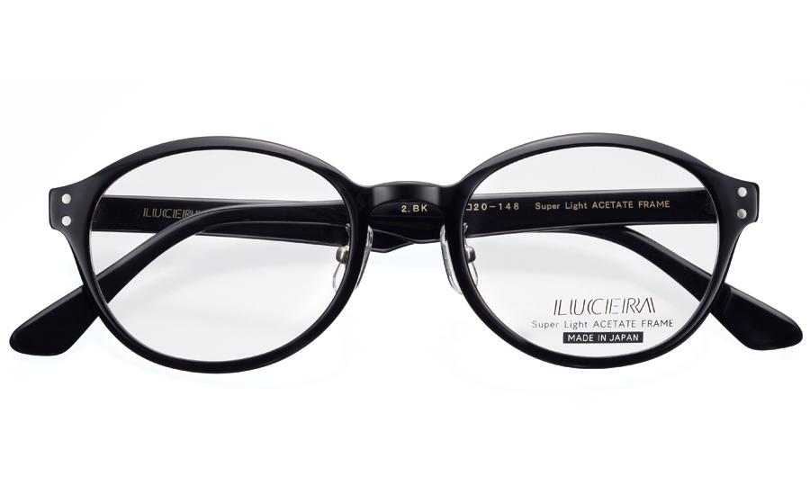 【VERY掲載】LUCERAボストンモデル LUC-1004 ブラック【メガネフレームのみ】