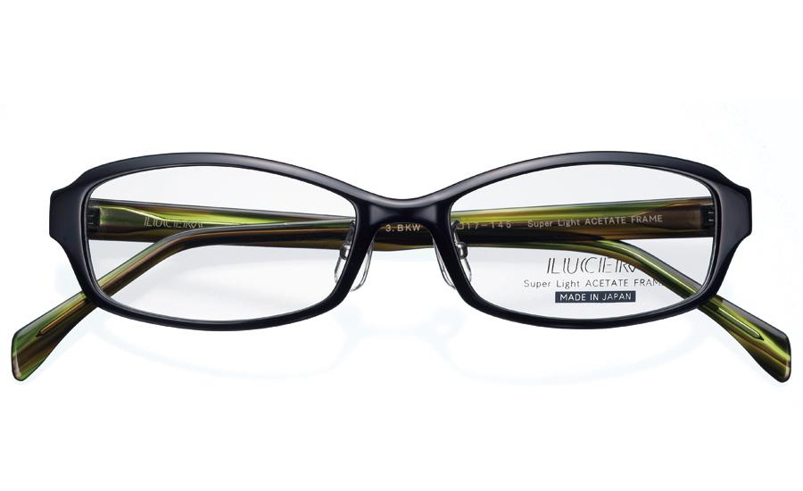 メガネ めがね 眼鏡 度なし 特価品コーナー☆ 店頭受取対応商品 LUC-1002 ブラック×ウッド LUCERAスクエアモデル メガネフレームのみ 超特価