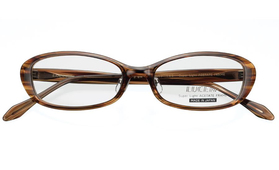 メガネ LUCERAオーバルモデル LUC-1003 ブラウン