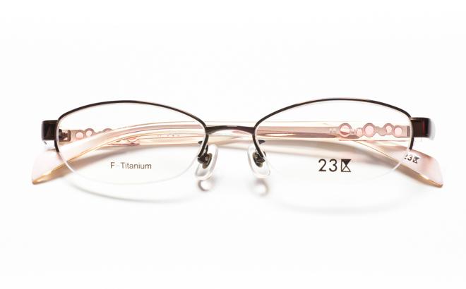 【送料無料】メガネ度付き/度なし 23区 43-0150 2BRブラウン【薄型レンズ追加料金0円】(メガネケース・メガネ拭き付) メガネ/めがね/眼鏡/度付きメガネ/度入り/伊達メガネ