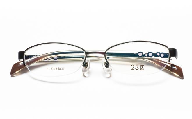 【送料無料】メガネ度付き/度なし 23区 43-0150 3BKブラック【薄型レンズ追加料金0円】(メガネケース・メガネ拭き付) メガネ/めがね/眼鏡/度付きメガネ/度入り/伊達メガネ