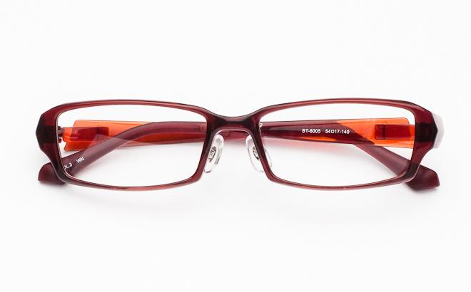 【送料無料】メガネ度付き/度なし BT-8005 3 ワイン(TR90フレーム)【薄型レンズ追加料金0円】(メガネケース・メガネ拭き付) メガネ/めがね/眼鏡/度付きメガネ/度入り/伊達メガネ/セルフレーム/セル