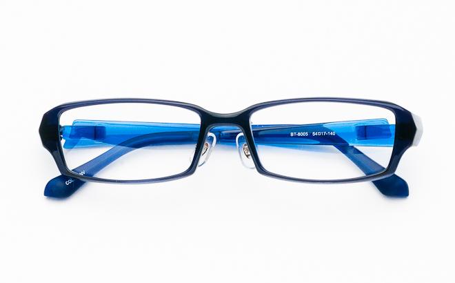 【送料無料】メガネ度付き/度なし BT-8005 4 ネイビー(TR90フレーム)【薄型レンズ追加料金0円】(メガネケース・メガネ拭き付) メガネ/めがね/眼鏡/度付きメガネ/度入り/伊達メガネ/セルフレーム/セル