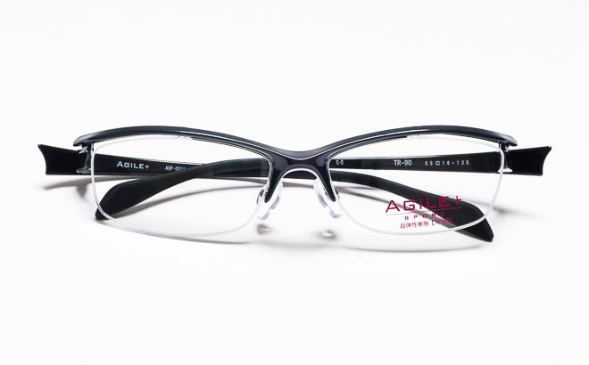 【送料無料】メガネ度付き/度なし AGILE+ SPORT アジーレプラス スポーツ AGP-001T 2GUNガンメタリック【薄型レンズ追加料金0円】(メガネケース・メガネ拭き付) メガネ/めがね/眼鏡/度付きメガネ/度入り/伊達メガネ/ナイロール