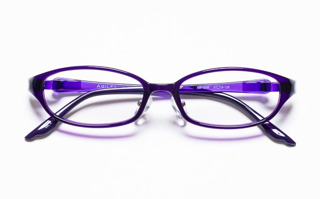 【送料無料】メガネ度付き/度なし AGILE+ アジーレプラス AGP-004F 4PUパープル【薄型レンズ追加料金0円】(メガネケース・メガネ拭き付) メガネ/めがね/眼鏡/度付きメガネ/度入り/伊達メガネ