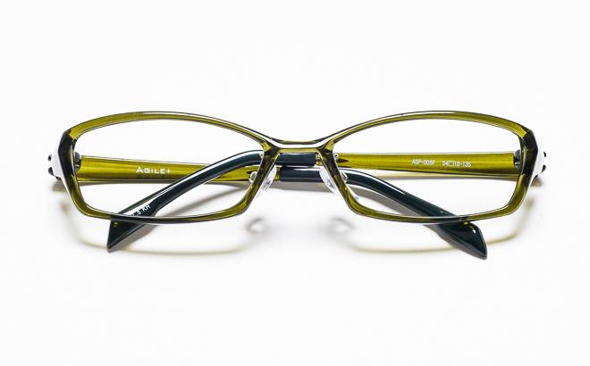 【送料無料】メガネ度付き/度なし AGILE+ アジーレプラス AGP-005F 5KHカーキ【薄型レンズ追加料金0円】(メガネケース・メガネ拭き付) メガネ/めがね/眼鏡/度付きメガネ/度入り/伊達メガネ