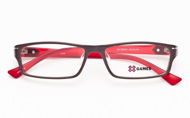 【送料無料】メガネ度付き/度なし AirFit XGAMES エアフィット エックスゲーム 9016 5ブラウン×レッド(TR90フレーム)【薄型レンズ追加料金0円】(メガネケース・メガネ拭き付) メガネ/めがね/眼鏡/度付きメガネ/伊達メガネ
