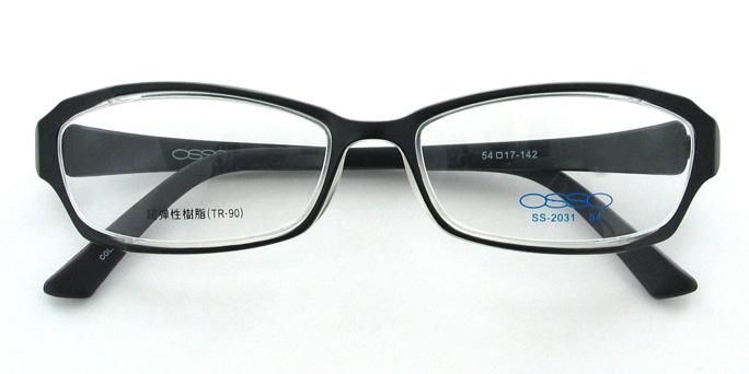 【送料無料】メガネ度付き/度なし AirFit2 OSSO エアフィットツー オッソ SS-2031 2マットブラック(TR90フレーム)【薄型レンズ追加料金0円】(メガネケース・メガネ拭き付) メガネ/めがね/眼鏡/度付きメガネ/度入り/伊達メガネ 【10P13Dec14】
