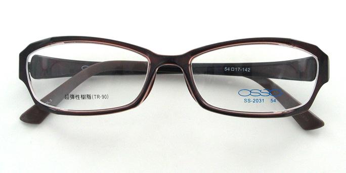 【送料無料】メガネ度付き/度なし AirFit2 OSSO エアフィットツー オッソ SS-2031 3ブラウン(TR90フレーム)【薄型レンズ追加料金0円】(メガネケース・メガネ拭き付) メガネ/めがね/眼鏡