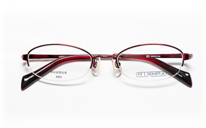 【送料無料】メガネ度付き/度なし AIRMAXエアマックス AM-5068 4(WN) 50レッド【薄型レンズ追加料金0円】(メガネケース・メガネ拭き付) メガネ/めがね/眼鏡/度付きメガネ/度入り/伊達メガネ/ナイロール/眼鏡フレーム