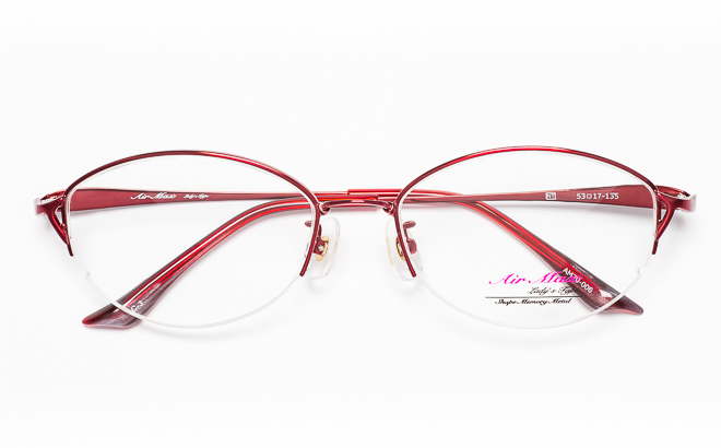 【送料無料】メガネ度付き/度なし AIRMAXエアマックス Lady'sType AM70-006 3(RD)レッド【薄型レンズ追加料金0円】(メガネケース・メガネ拭き付) メガネ/めがね/眼鏡/度付きメガネ/度入り/伊達メガネ/眼鏡フレーム