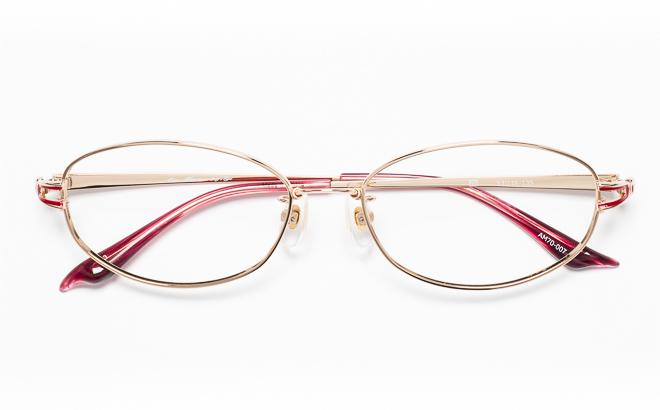 【送料無料】メガネ度付き/度なし AIRMAXエアマックス Lady'sType AM70-007 3(GP)ゴールド【薄型レンズ追加料金0円】(メガネケース・メガネ拭き付) メガネ/めがね/眼鏡/度付きメガネ/度入り/伊達メガネ/眼鏡フレーム