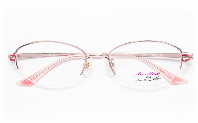 【送料無料】メガネ度付き/度なし AIRMAXエアマックス Lady'sType AM70-008 1(PK)ピンク【薄型レンズ追加料金0円】(メガネケース・メガネ拭き付) メガネ/めがね/眼鏡/度付きメガネ/度入り/伊達メガネ/眼鏡フレーム