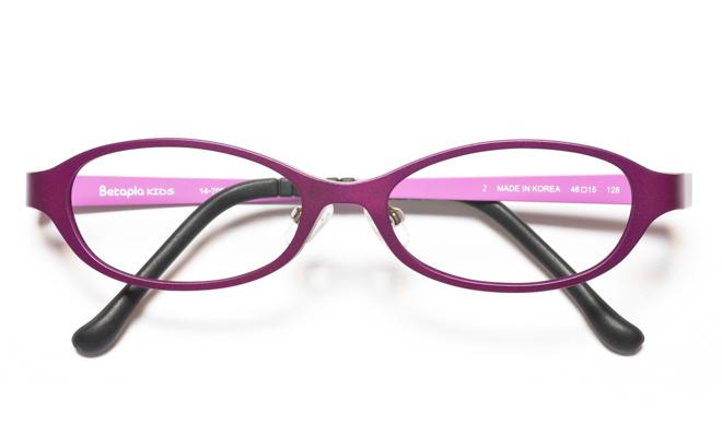 【送料無料】メガネ度付き/度なし Betapla KIDS ベータプラキッズ 14-7004 2VOバイオレット【薄型レンズ追加料金0円】(メガネケース・メガネ拭き付) メガネ/めがね/眼鏡 【子供用/小さいサイズ】