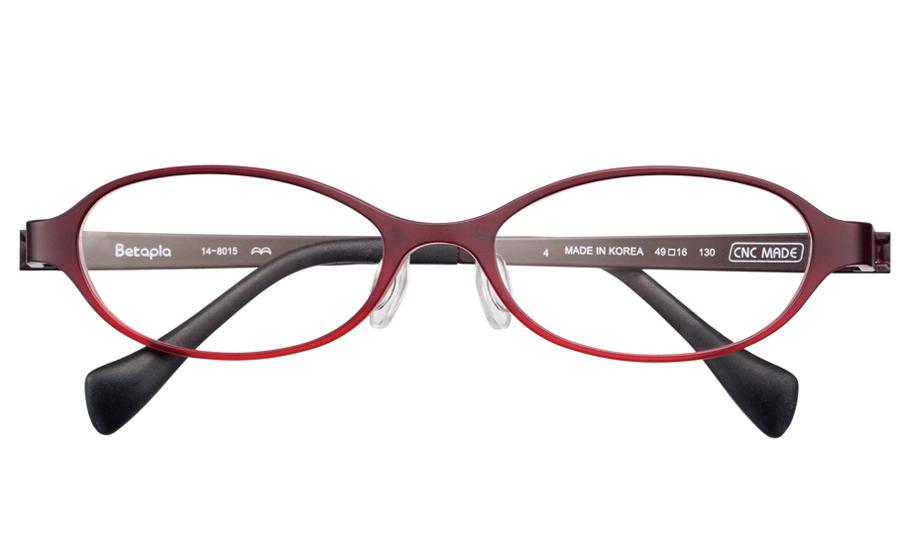 【送料無料】メガネ度付き/度なし BetaplaLadies ベータプラレディース 14-8015 4RDCKレッド×チェック【薄型レンズ追加料金0円】(メガネケース・メガネ拭き付) メガネ/めがね/眼鏡/度付きメガネ/度入り/伊達メガネ