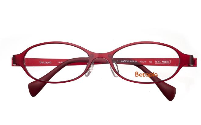 【送料無料】【薄型非球面レンズUVカット付き】「BetaplaLadiesベータプラレディース」「14-8015 1RDレッド」(レディースモデル)(メガネケース・メガネ拭き付) メガネ/めがね/眼鏡/度付きメガネ/度入り/度なし/伊達メガネ 【10P13Dec14】