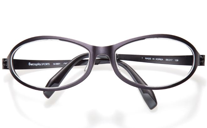 【送料無料】【薄型非球面レンズUVカット付き】「BetaplaSPORTSベータプラスポーツ」「14-6001 1BKブラック」(メガネケース・メガネ拭き付) メガネ/めがね/眼鏡/度付きメガネ/度入り/度あり