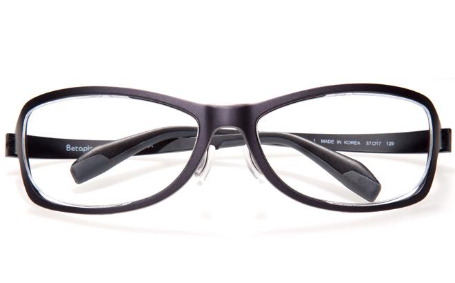 【送料無料】【薄型非球面レンズUVカット付き】「BetaplaSPORTSベータプラスポーツ」「14-6002 1BKブラック」(メガネケース・メガネ拭き付) メガネ/めがね/眼鏡/度付きメガネ/度入り/度あり