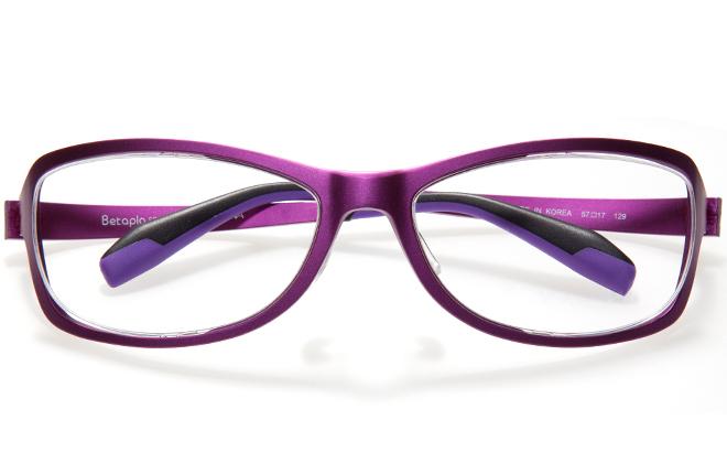 【送料無料】【薄型非球面レンズUVカット付き】「BetaplaSPORTSベータプラスポーツ」「14-6002 3PUパープル」(メガネケース・メガネ拭き付) メガネ/めがね/眼鏡/度付きメガネ/度入り/度あり