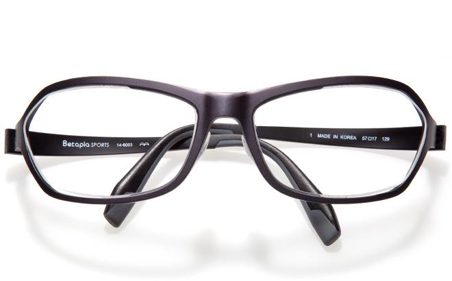 【送料無料】【薄型非球面レンズUVカット付き】「BetaplaSPORTSベータプラスポーツ」「14-6003 1BKブラック」(メガネケース・メガネ拭き付) メガネ/めがね/眼鏡/度付きメガネ/度入り/度あり
