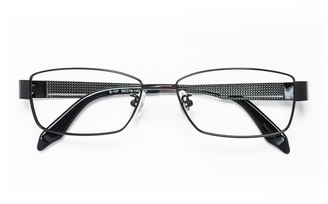 【送料無料】メガネ度付き/度なし Blessed-ONEブレッシードワン B-157 3(BK)ブラック【薄型レンズ追加料金0円】(メガネケース・メガネ拭き付) メガネ/めがね/眼鏡/度付きメガネ/度入り/伊達メガネ