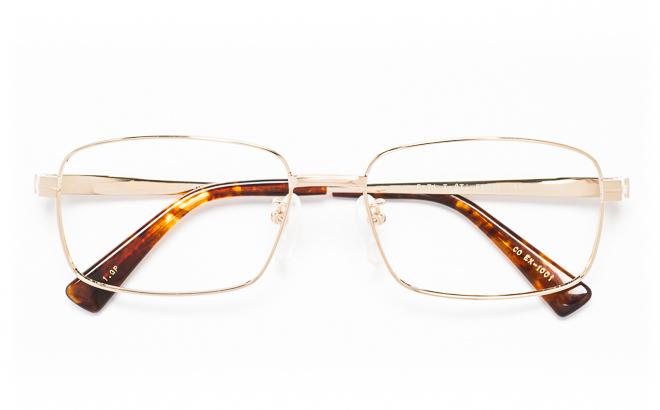 【送料無料】メガネ度付き/度なし CONTINENTAL EX コンチネンタルEX CO EX-1001 1(GP)ゴールド【薄型レンズ追加料金0円】(メガネケース・メガネ拭き付) メガネ/めがね/眼鏡/度付きメガネ/度入り/伊達メガネ